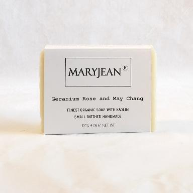 Organic Scottish Geranium May Chang Gentlemen S Shaving Soap Handmade With Kaolin