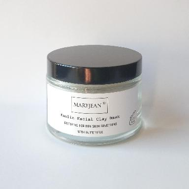 Restoring Kaolin Clay Facial Mask For Dry Skin Conditions With Buttermilk