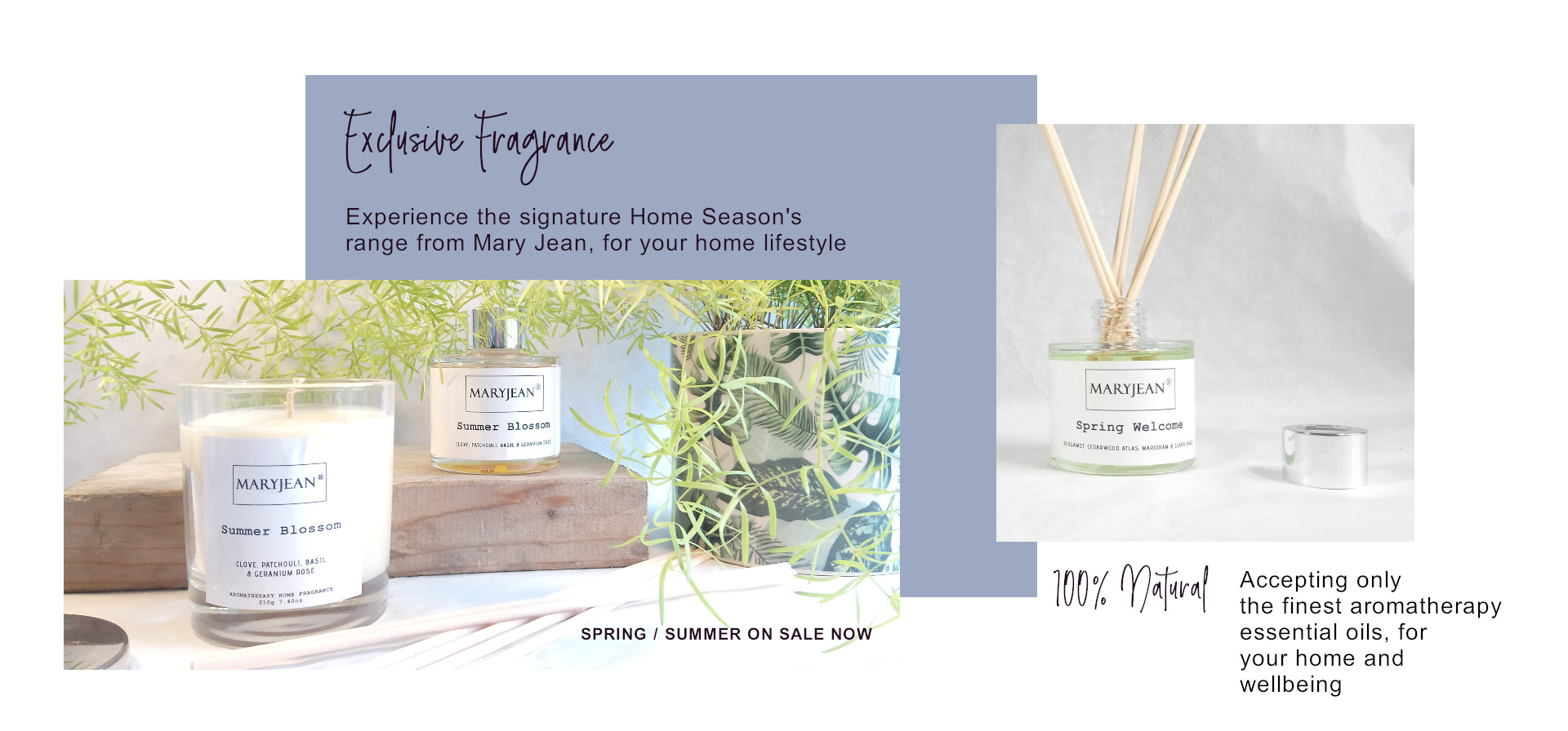 The Mary Jean Autumn 2020 Event Mega Savings on Signature Home Seasons Home Fragrance Candles and Reed Diffusers