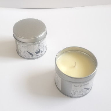 Bali Indonesia Tropical Paradise Island Holiday Travel Candle travel candle for the tropical lifestyle home living, natural wax and essential oil blend of amyris and cedarwood and patchouli for oriental aromapherapy blends, blissed mood and wellbeing paradise island life