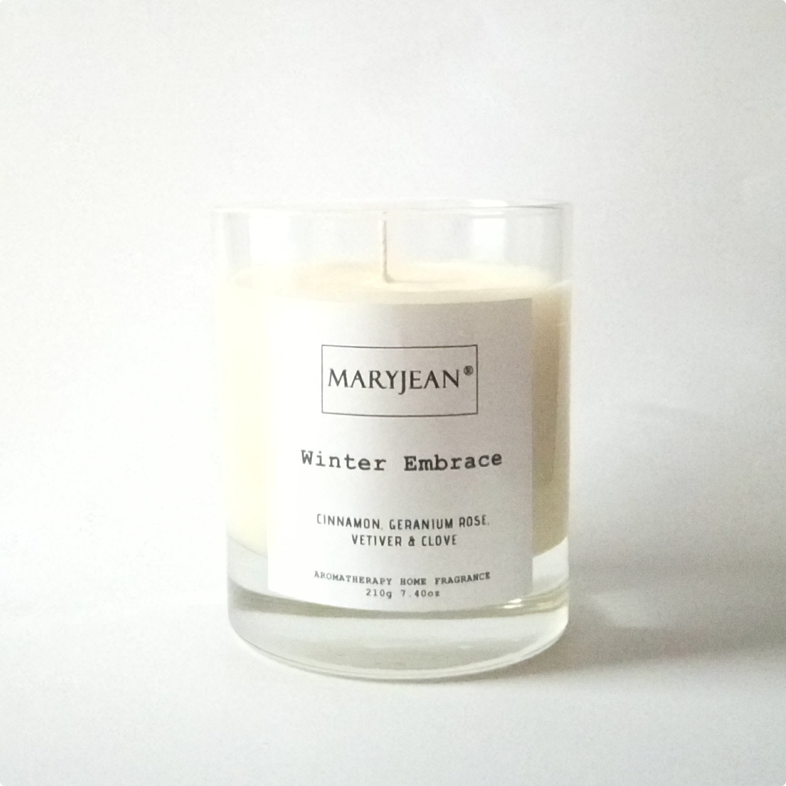 Winter Home Seasons Fragrance hand poured large Luxury Soy candle