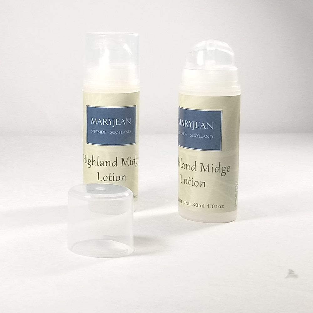 Highland Midge Weekend Camping Travel Insect Repellent Lotion With Jojoba Twin 2 Pack A natural insect repellent that is DEET chemical free works on Scottish midge as much as mosquito in warmer climates