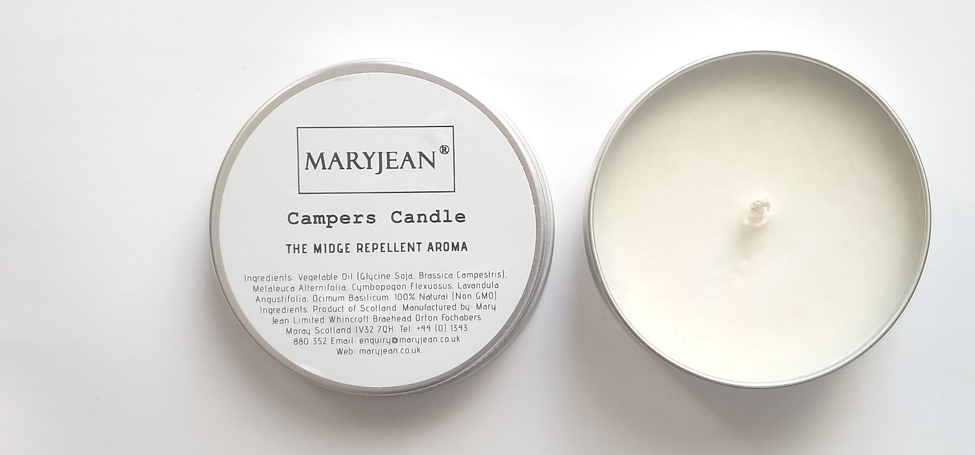 The Campers Candle, Outdoor living and Home Garden Midge Repellent Insect Aroma