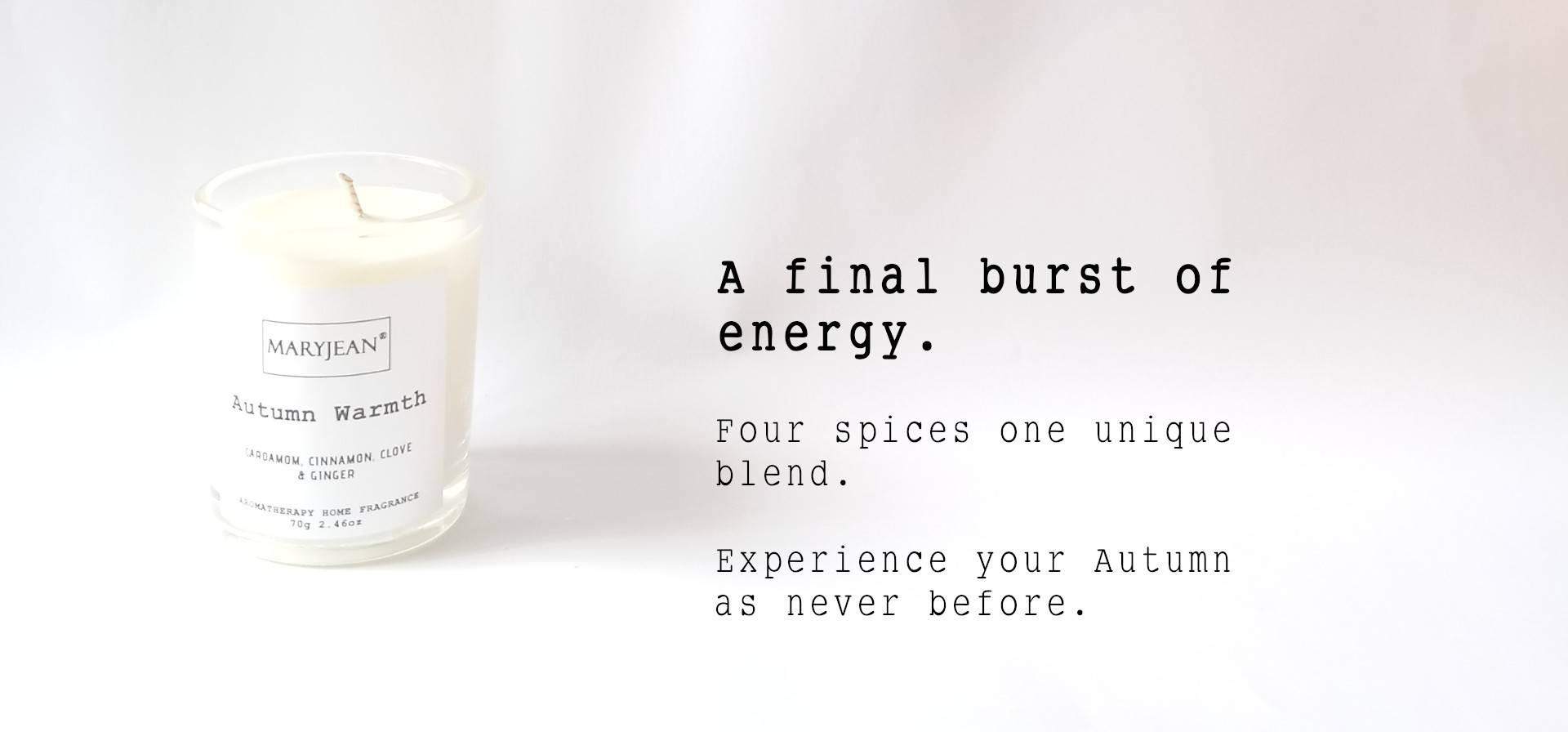 Natural Home Season's Autumn Fragrance Hand Poured Small Luxury Soy Candle en_GB