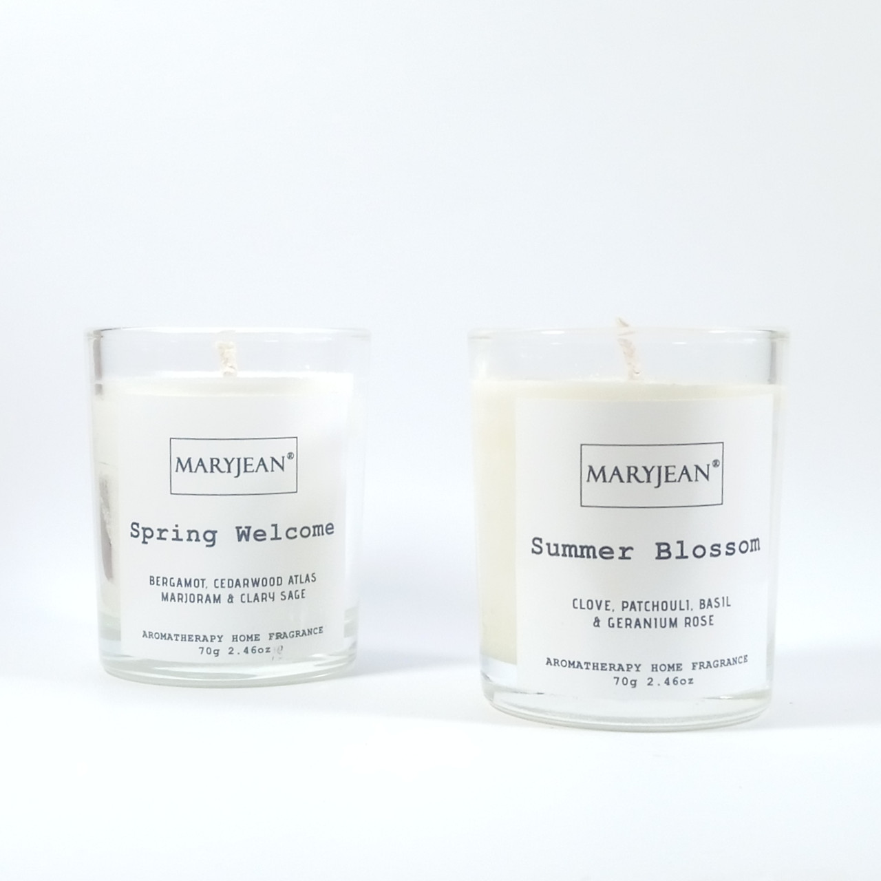 Natural Home Season's Spring And Summer Fragrance Hand Poured Luxury Candle Gift Set Ideal gift set for yourself or a friend that is comforting and all natural and eco friendly featuring unique fragrance for spring and summer season's