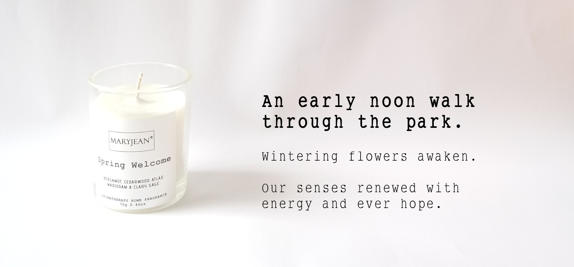 Natural Home Season's Spring Fragrance Hand Poured Small Luxury Soy Candle en_GB