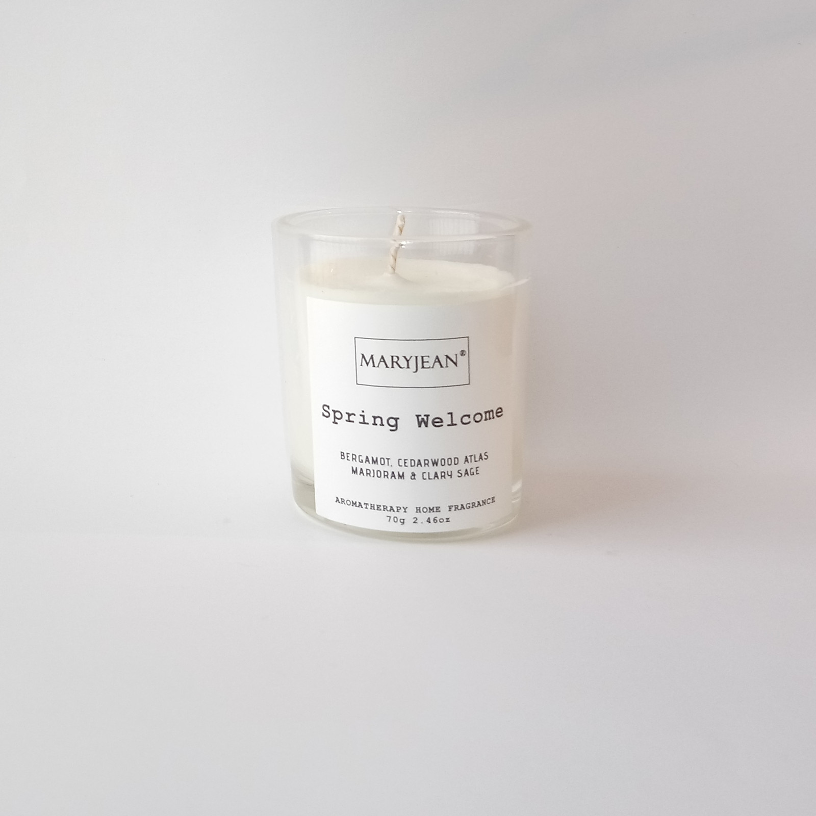 Natural Home Season's Spring Fragrance Hand Poured Small Luxury Soy candle Flowers bloom and trees grow once more with a happy spring fragrance introduces a new year with this natural home decor candle