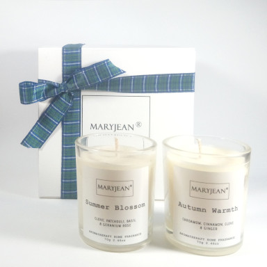 Natural Home Season's Summer and Autumn Fragrance Hand Poured Luxury Candle Gift Set Blustery and breezy our summers end we welcome our harvest with a natural fragrance of Autumn venture with this votive gift set