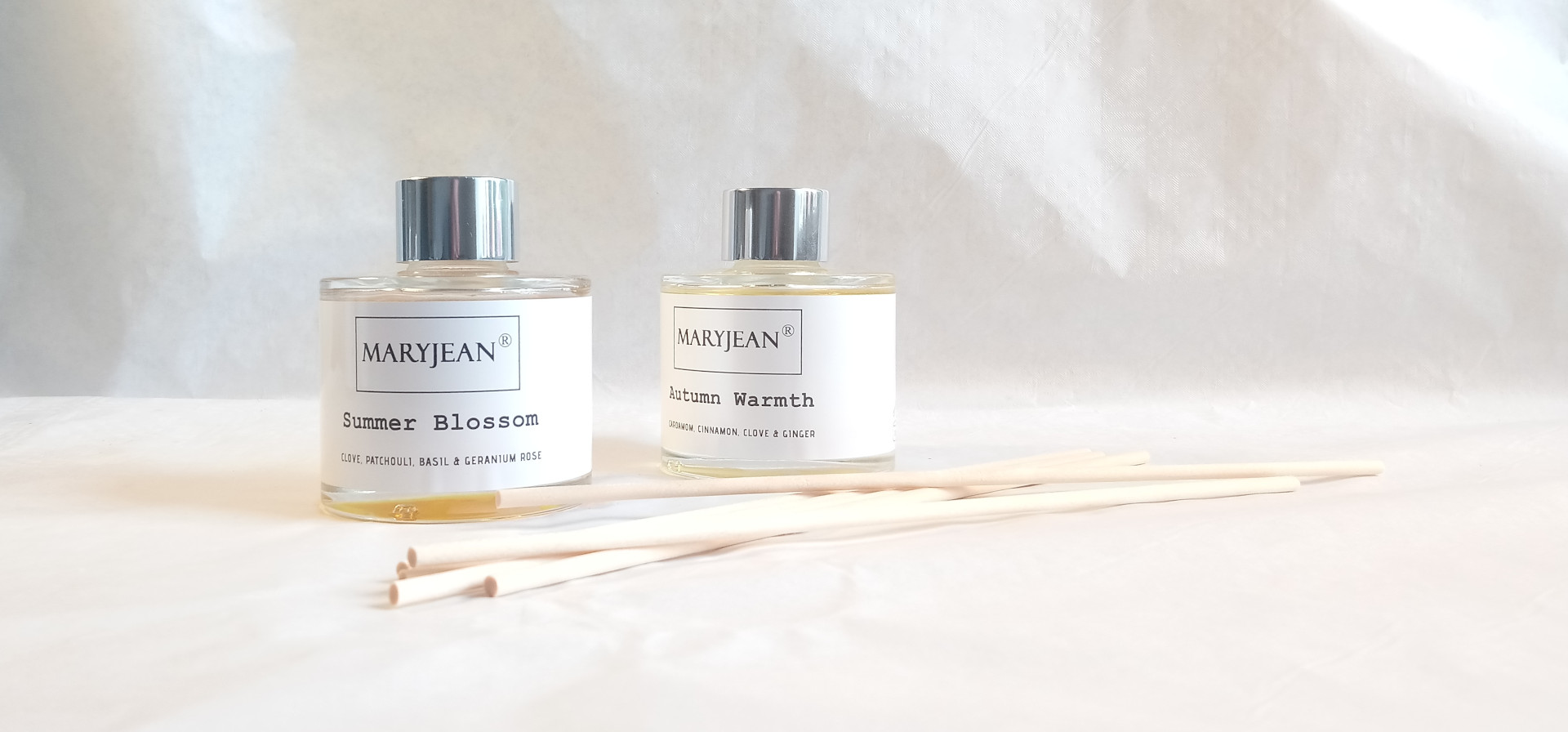 Natural Home Season's Summer And Autumn Fragrance Handmade Luxury Reed Diffusers Twin 2 Pack en_GB