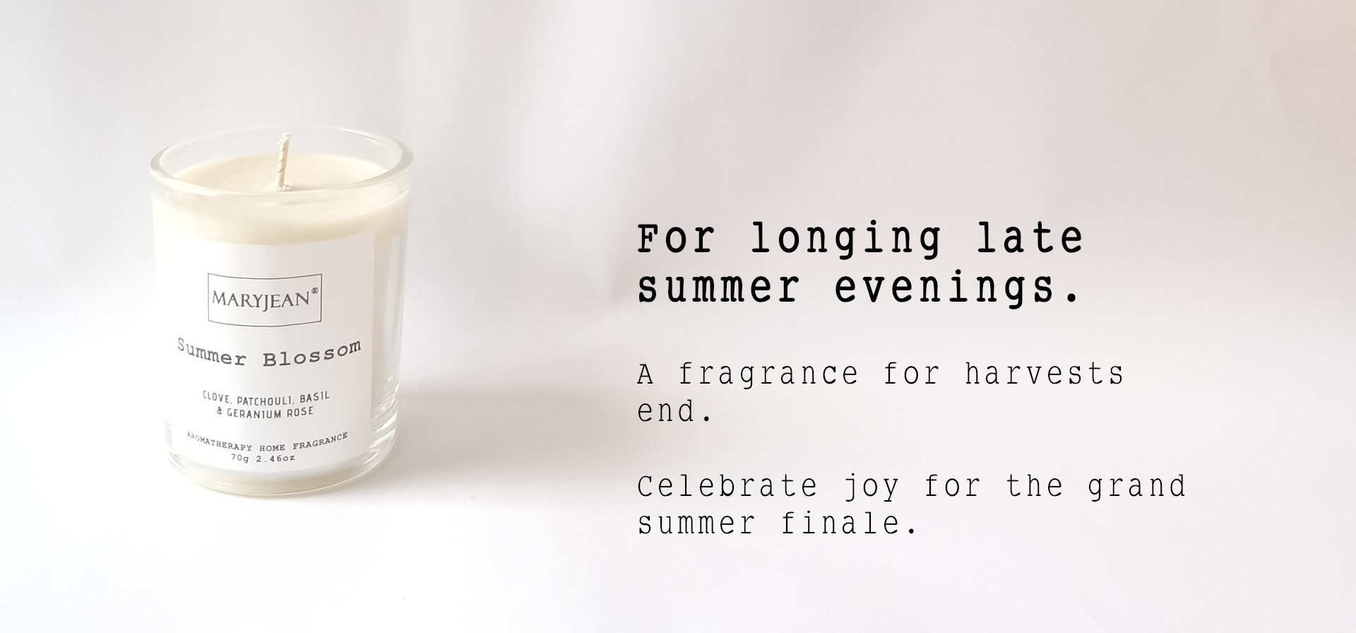 Natural Home Season's Summer Fragrance Hand Poured Small Luxury Soy Candle en_GB
