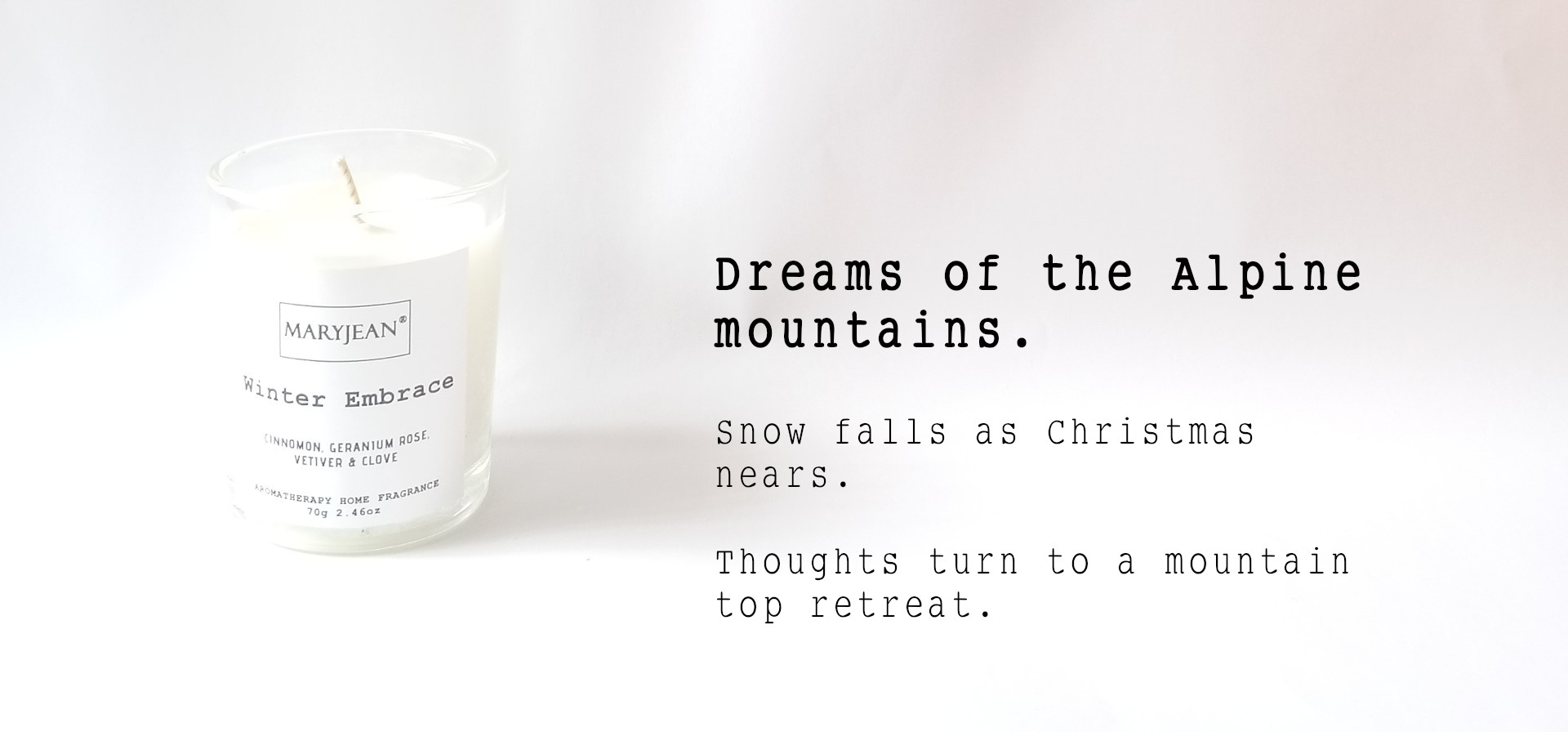 Natural Home Season's Winter Fragrance Hand Poured Small Luxury Soy Candle en_GB