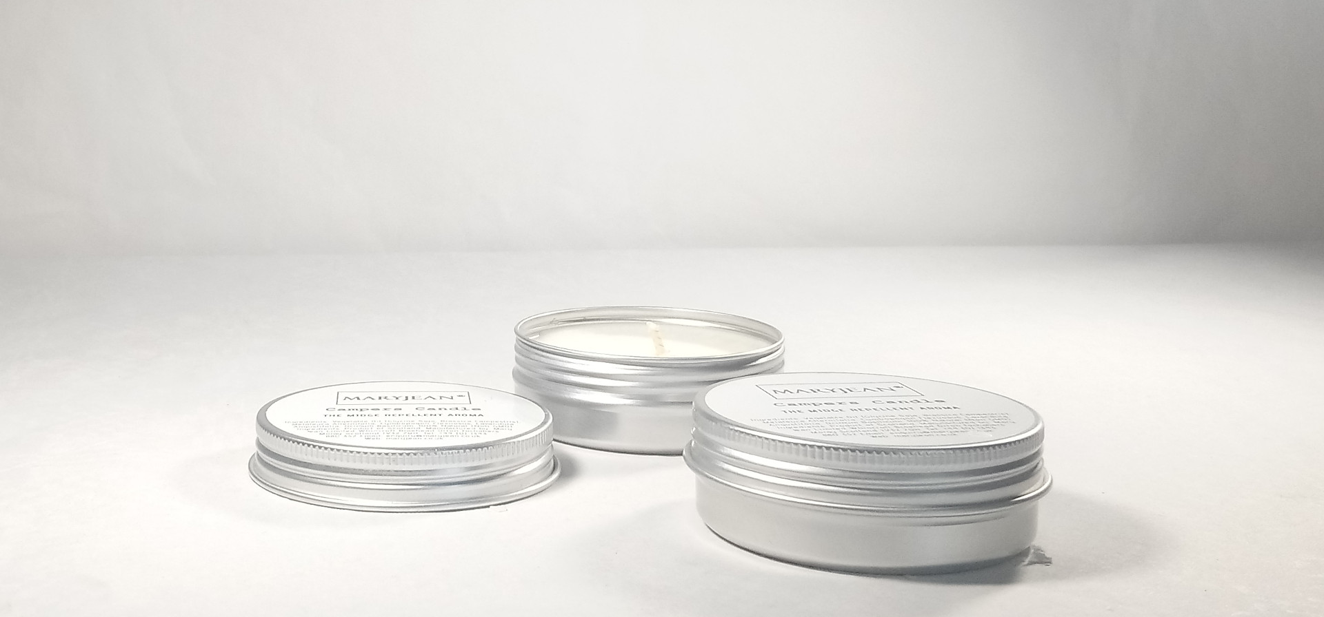 Natural Weekend Camping Travel Insect Repellent Candle With Lemongrass Twin 2 Pack en_GB
