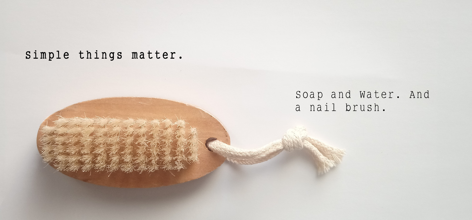 Natural Wood Double Sided Hand And Nail Scrubbing Brush en_GB
