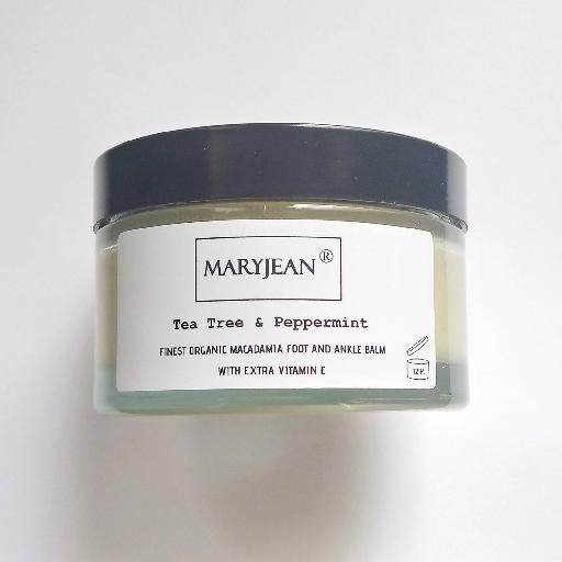 A rich balm for cooling and calming tired sore feet ankles and heels use sparingly as intense moisturisation Organic Macadamia Foot And Ankle Tea Tree Peppermint Balm With Extra Vitamin E 64993470961679043703089056460827