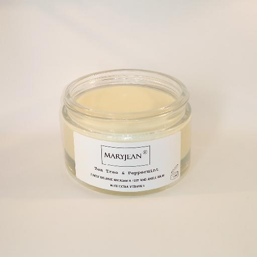 A rich balm for cooling and calming tired sore feet ankles and heels use sparingly as intense moisturisation Organic Macadamia Foot And Ankle Tea Tree Peppermint Balm With Extra Vitamin E 24620091380057832094751676023256