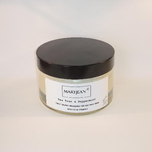 A rich balm for cooling and calming tired sore feet ankles and heels use sparingly as intense moisturisation Organic Macadamia Foot And Ankle Tea Tree Peppermint Balm With Extra Vitamin E 68032410947816625245339020804391