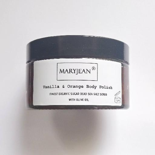 Enjoy more radiant skin afterwards with this body scrub removing old skin cells along with dirt and grease, sebum enjoy smoother skin for longer Organic Moisturising Vanilla And Orange Sugar Body Polish With Olive 15515434454351390119571440494145