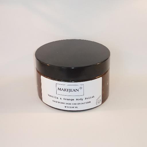 Enjoy more radiant skin afterwards with this body scrub removing old skin cells along with dirt and grease, sebum enjoy smoother skin for longer Organic Moisturising Vanilla And Orange Sugar Body Polish With Olive 58769343321857318699854379893567
