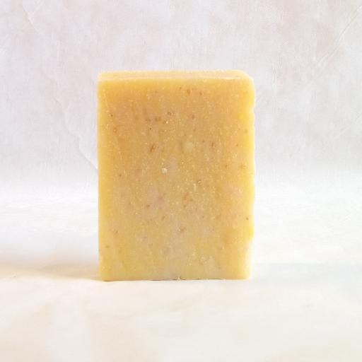 Gently exfoliates and polishing from oats and Goats milk skin damage is repaired boosted with Sea Buckthorn treating mature over 50s aged skin Organic Scottish Exfoliating Body Scrub Soap Handmade With Sea Buckthorn 50309175858890165271603059850904