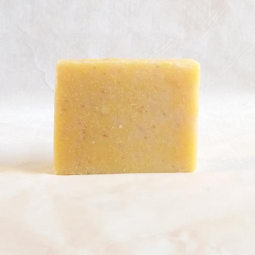 Gently exfoliates and polishing from oats and Goats milk skin damage is repaired boosted with Sea Buckthorn treating mature over 50s aged skin Organic Scottish Exfoliating Body Scrub Soap Handmade With Sea Buckthorn 13495294255412755760319787768556