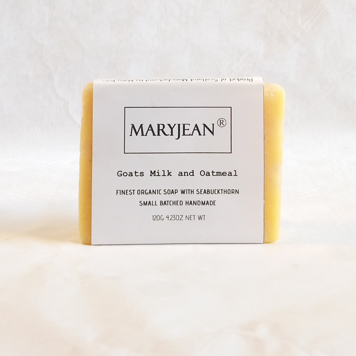 Organic Scottish Exfoliating Body Scrub Soap Handmade with Sea Buckthorn Gently exfoliates and polishing from oats and Goats milk skin damage is repaired boosted with Sea Buckthorn treating mature over 50s aged skin