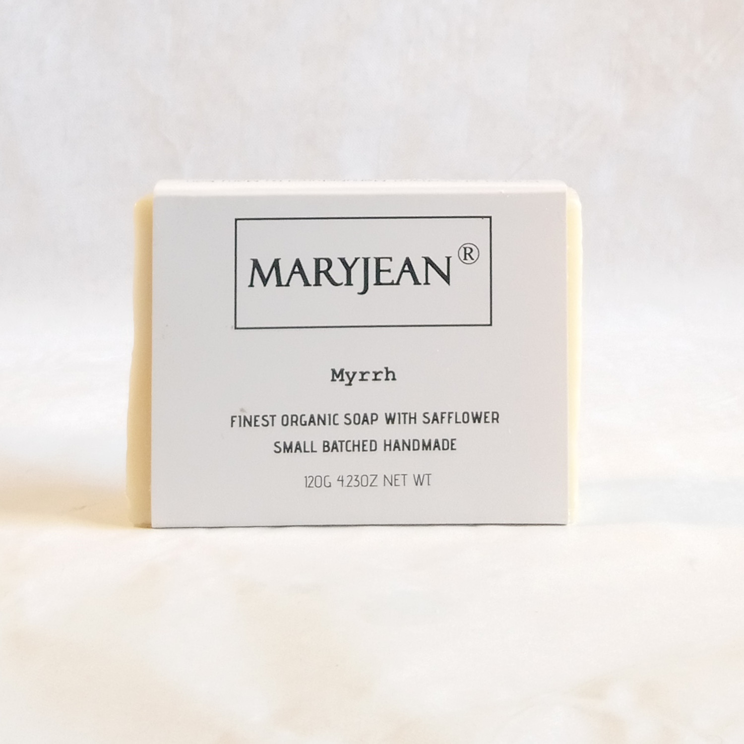 Organic Scottish Myrrh Soap Handmade with Safflower Best care of the health of your skin for outdoor weathering and environmental stress prevents dryness and cell damage