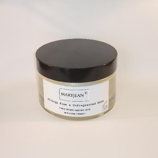 An excellent light and fragrant free balm for sensitive skin with Cocoa and Shea for softer subtle skin Organic Shea And Cocoa Allergy Free Unfragranced Balm With Extra Vitamin E 61645465982778942695671333672929