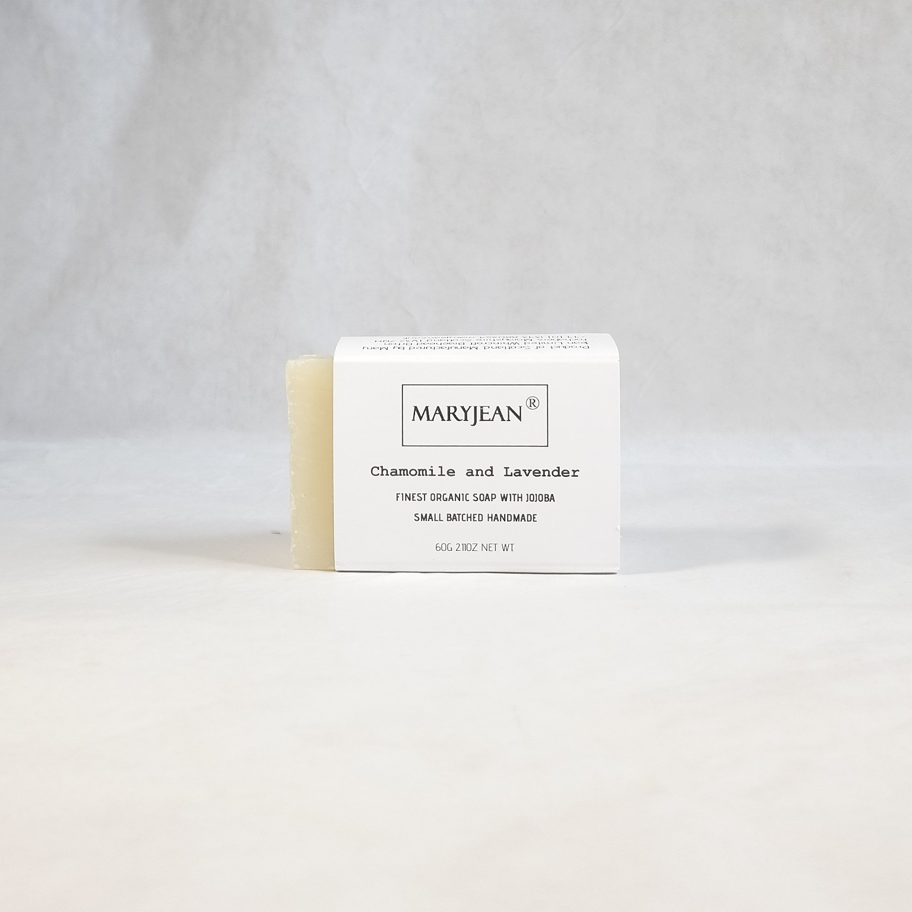 Travel size Organic Scottish Chamomile Lavender Facial Cleansing Soap Handmade with Jojoba An excellent choice for treating sun burnt skin this summer this bar of soap is sensitive enough for every day use with Jojoba for healthier skin