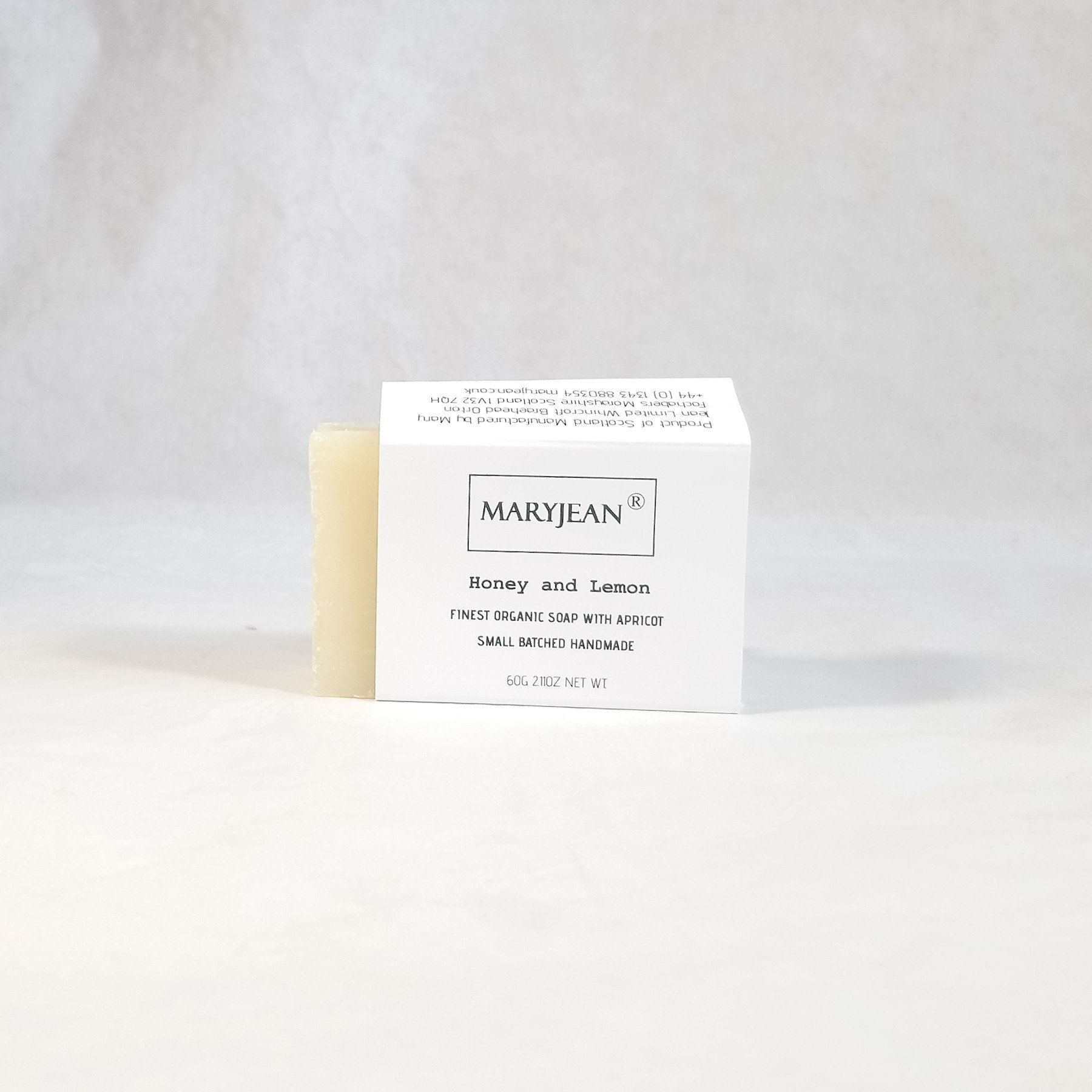 Travel size Organic Scottish Honey Lemon Soap Handmade with Apricot A quality zesty Lemon bar of soap with Honey and Apricot for dry mature skin types moisturised with Cocoa seed butter resulting in maximum hydration all day protection