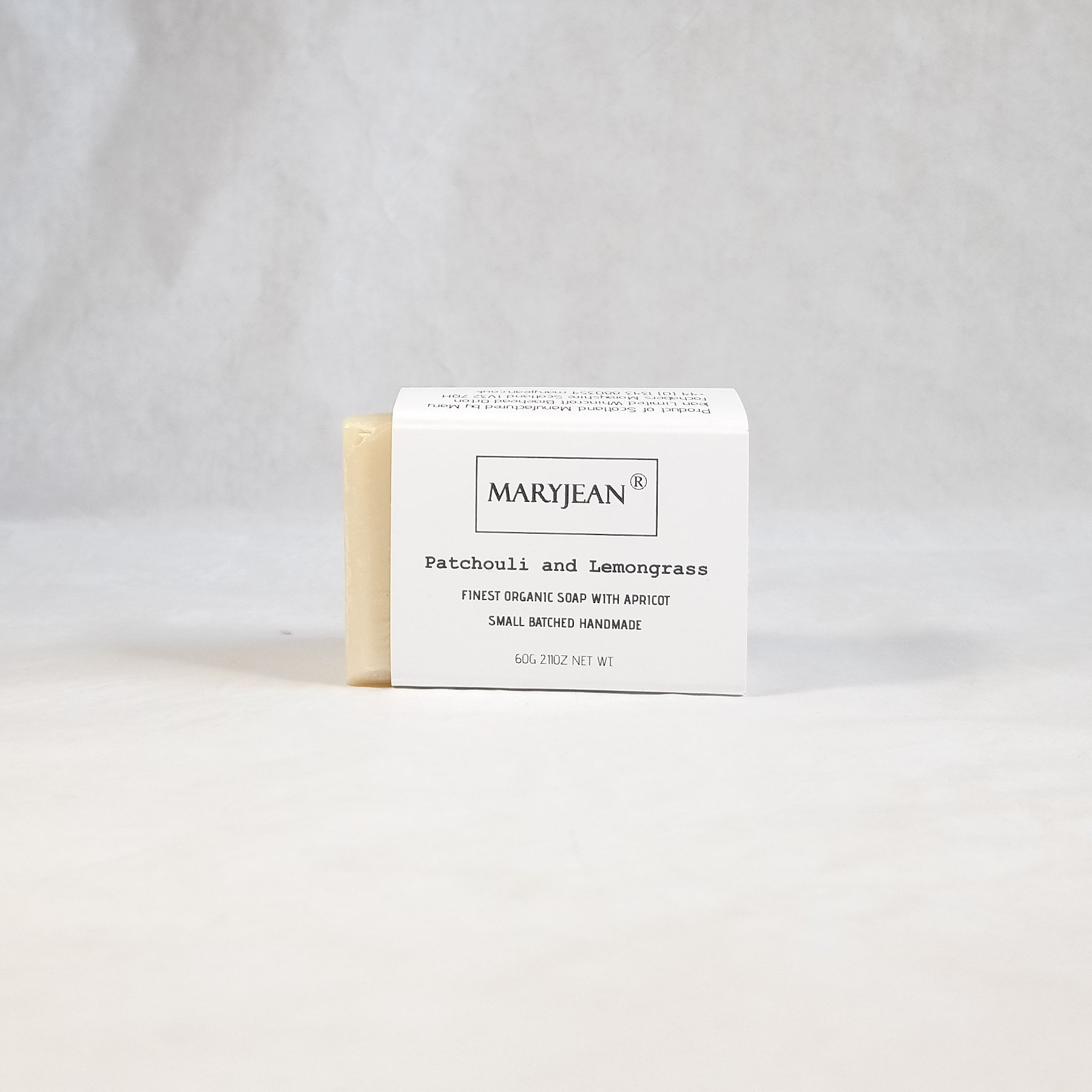 Travel size Organic Scottish Patchouli Lemongrass Exfoliating Hand Scrub Soap Handmade with Apricot A gentle plant based soap with a refreshing Lemongrass fragrance to reinvigorate the senses after deep cleansing of ground in dirt and grease volcanic pumice makes it easy to wash off